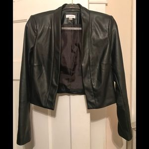NWOT Calvin Klein Faux Leather Shrug Jacket
